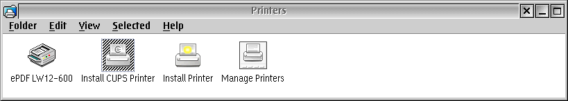 Printer Install CUPS